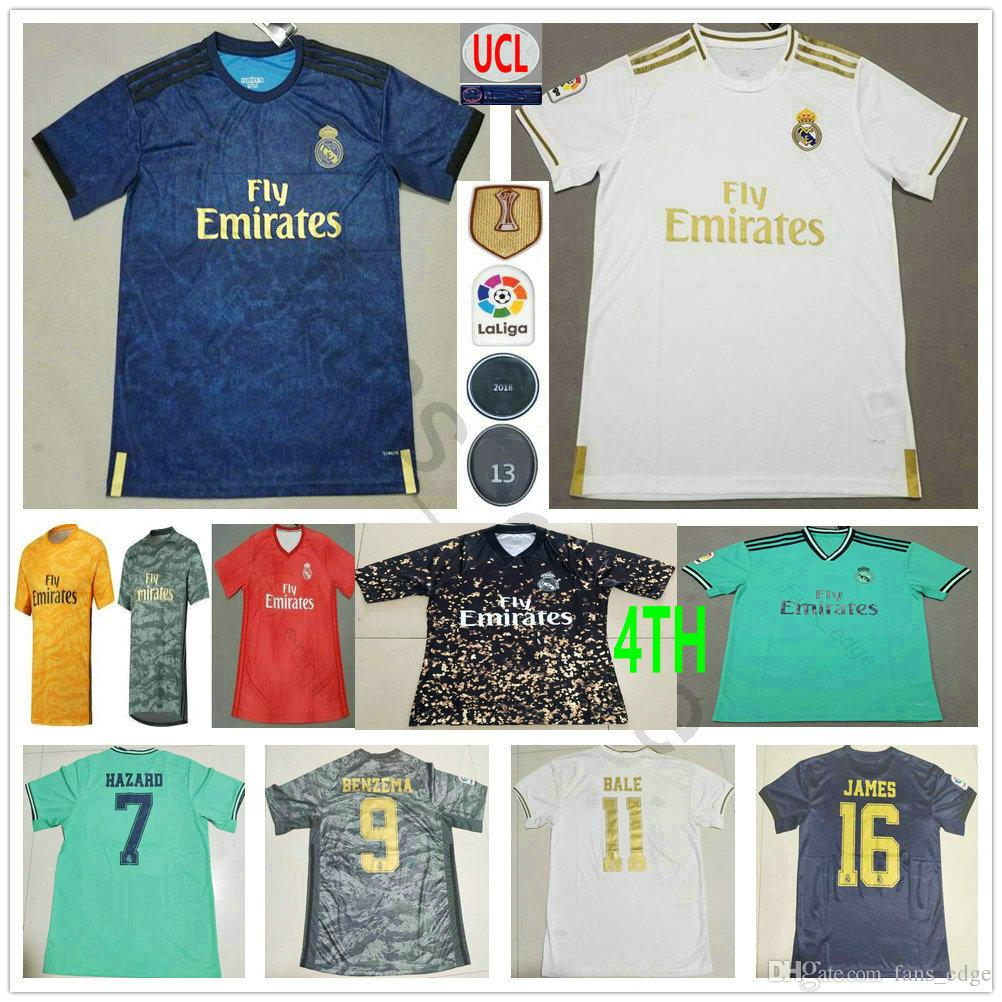 2019 2020 Real Madrid Futbol Formalar TEHLİKESİ Modric JOVIC RODRYGO VINICIUS JR BENZEMA Sergio Ramos Özel Erkek Kadın Çocuk 4 Futbol Gömlek