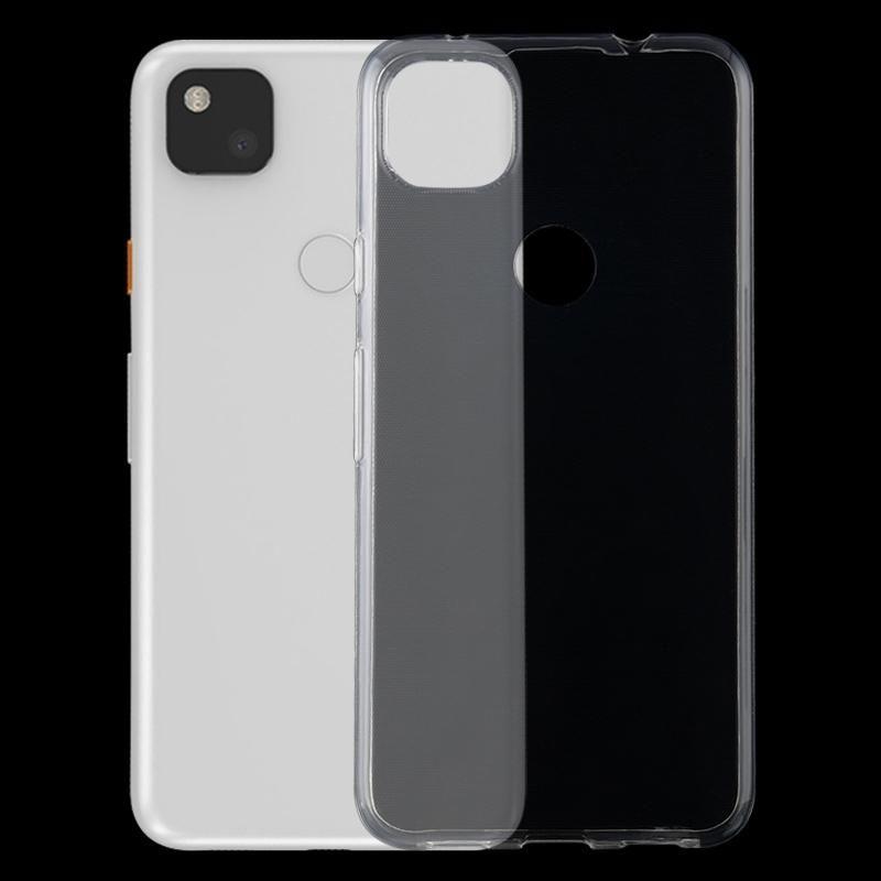 Google Piksel 4a TPU Ultra İnce Şeffaf Cep Telefonu Kılıfı için