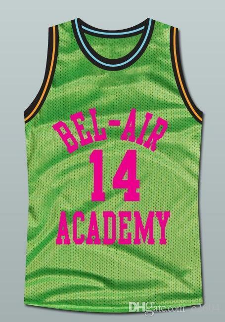 Özel Erkekler Gençlik kadınlar Vintage # Bel-Air Will Smith basketbol Jersey Boyut S-4XL ait 14the Fresh Prince veya özel herhangi bir ad veya numara forması