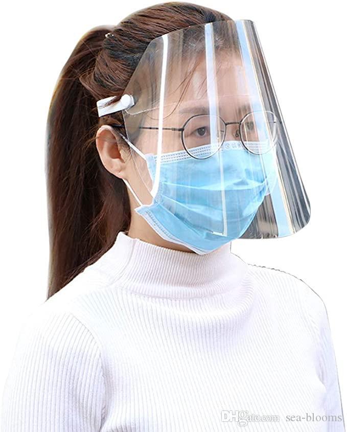 DHL libre máscara transparente de protección Máscaras anti-niebla protector de cara completo Escudo de seguridad de protección de la cara reutilizable de Splash X61FZ