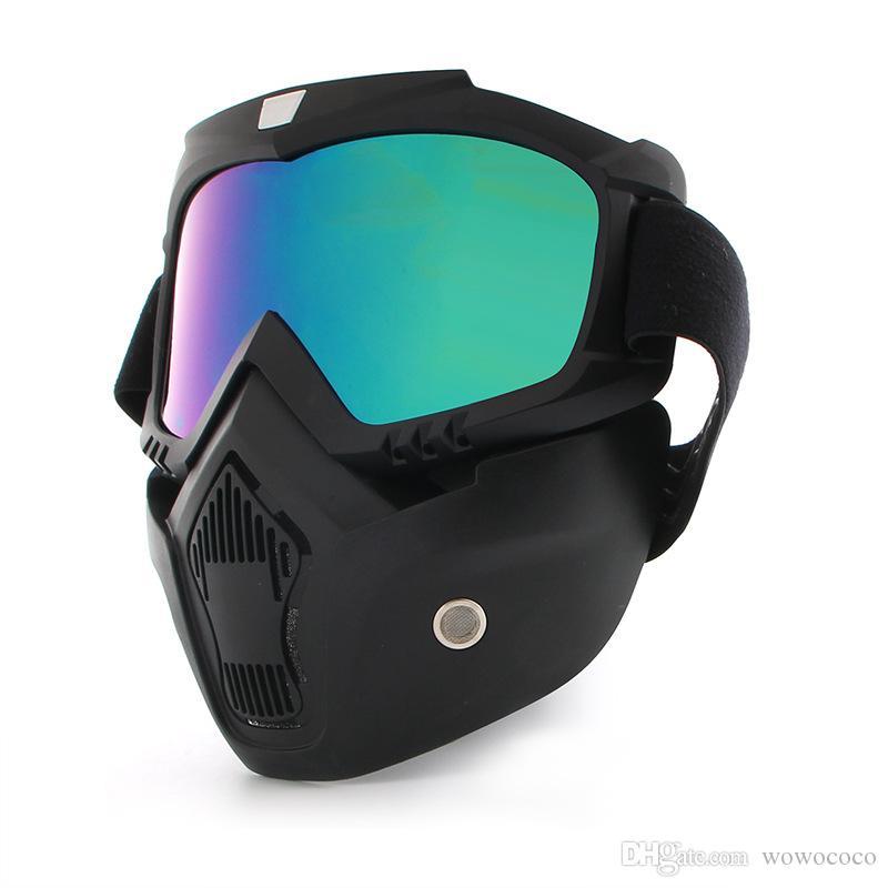 دراجة نارية يندبروف غبار خوذة نظارات مع قناع قابلة للإزالة الدراجة الجبلية ركوب x386