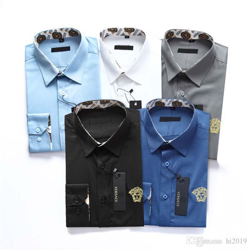 La chemise de nouveaux hommes chemise à manches longues 2020 hommes mode affaires lâche luxe douce chemise vêtements pour hommes