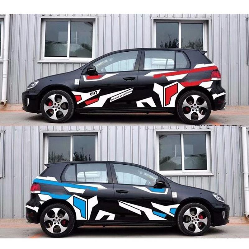 DIY Decoration Creative Car Body Stickers Racing Car Both Sides Decals Wrap Vinyl Film Automobile Goods Car-styling Accessories