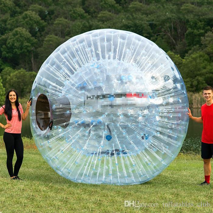 무료 배송 풍선 Zorb 공 판매 인간의 크기 햄스터 공 이동 명확한 PVC 잔디 공 / 눈 공