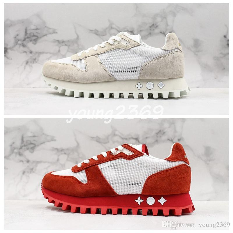 19SS Runner Sneaker vintage Low Cut Time Out Ace chain reaction platform Womens Designer Shoes Sports Leather women Luxury Sneakers Trainers