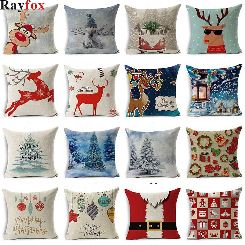 45x45cm Christmas Decorations for Home 2019 New Year Christmas Santa Claus Gift Xmas Home decorating Ornaments Decor Kids Gift