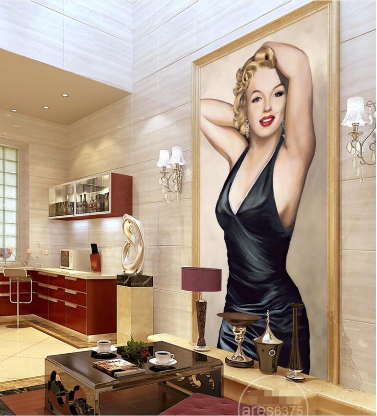 3d обои на заказ фото Красивая Мэрилин Монро крыльцо фон стены гостиная home decor 3d muals обои для стен 3 d