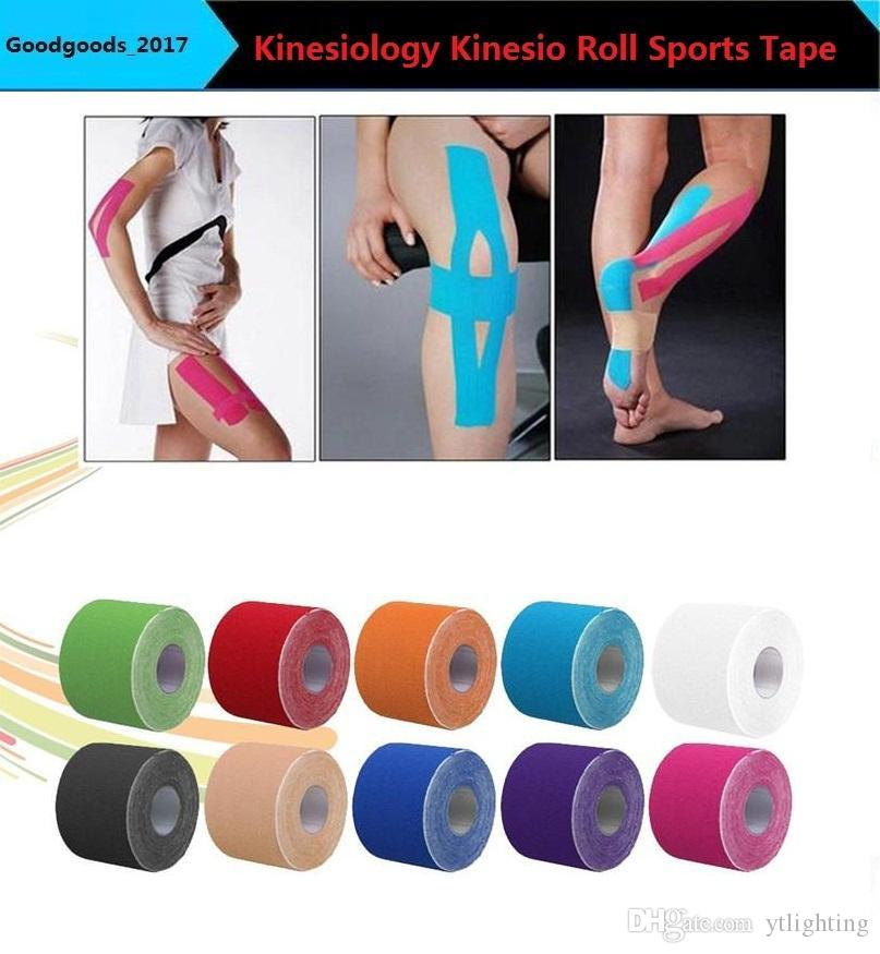 5m Sports Athletic Muscle Tape Kinesiology Physio Strap Sport Body Knee 6 Colors