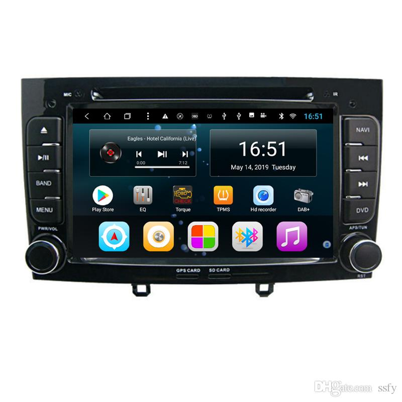 Android 9inch 8-core for Peugeot 308 black Car HD 1080P MP3 MP4 music player Multimedia Player Radio Wifi head unit