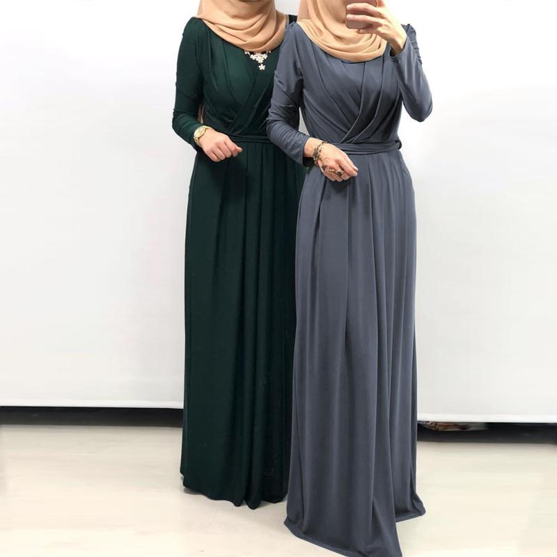 Kaftan Abaya Dubai Islamic Muslim Hijab Dress Caftan Turkey Elbise Ramadan Pleated Dresses Eid Vestidos Robe Arabe Musulmane