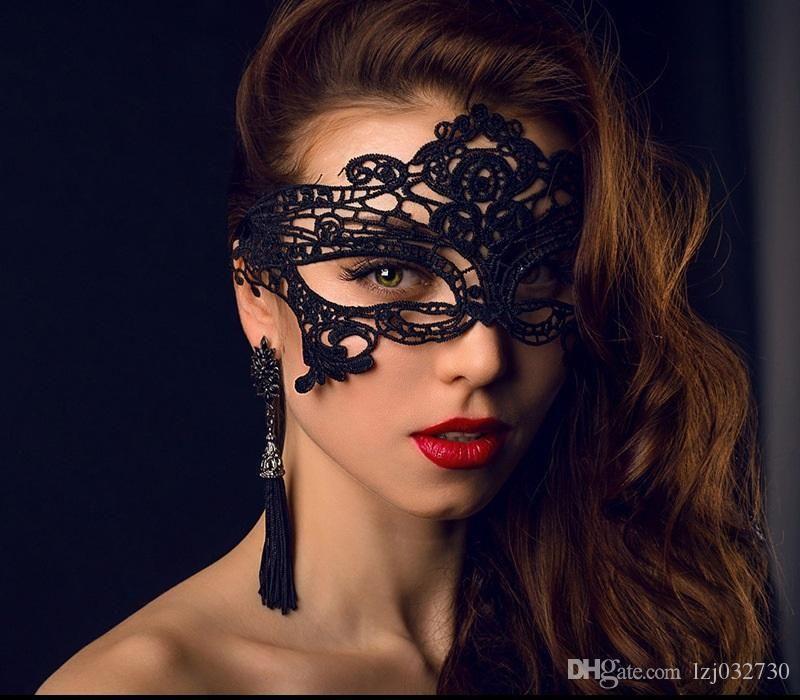 Queen Cosplay 44 Moda Valentine Mulheres Traje A028 Masquerade Dancing Máscaras Sexy Face Mask Party Mask Máscara Lace Design Meia Muiex