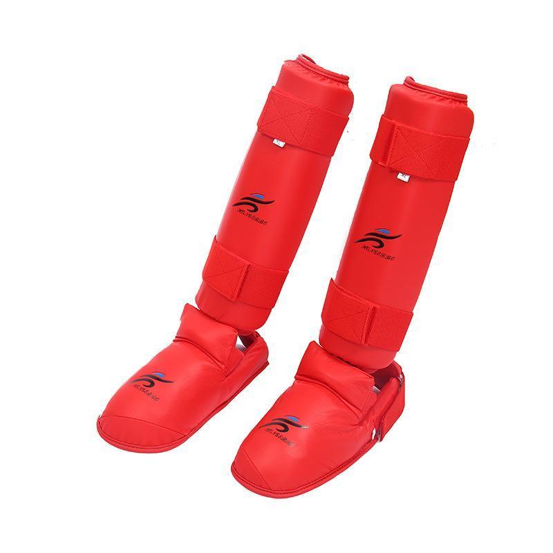 Karate Leg Piastra Parastinchi Gambe Leggings Protect di addestramento di combattimento Size Mix multi colori 1Pair Pu 49 95tr f1