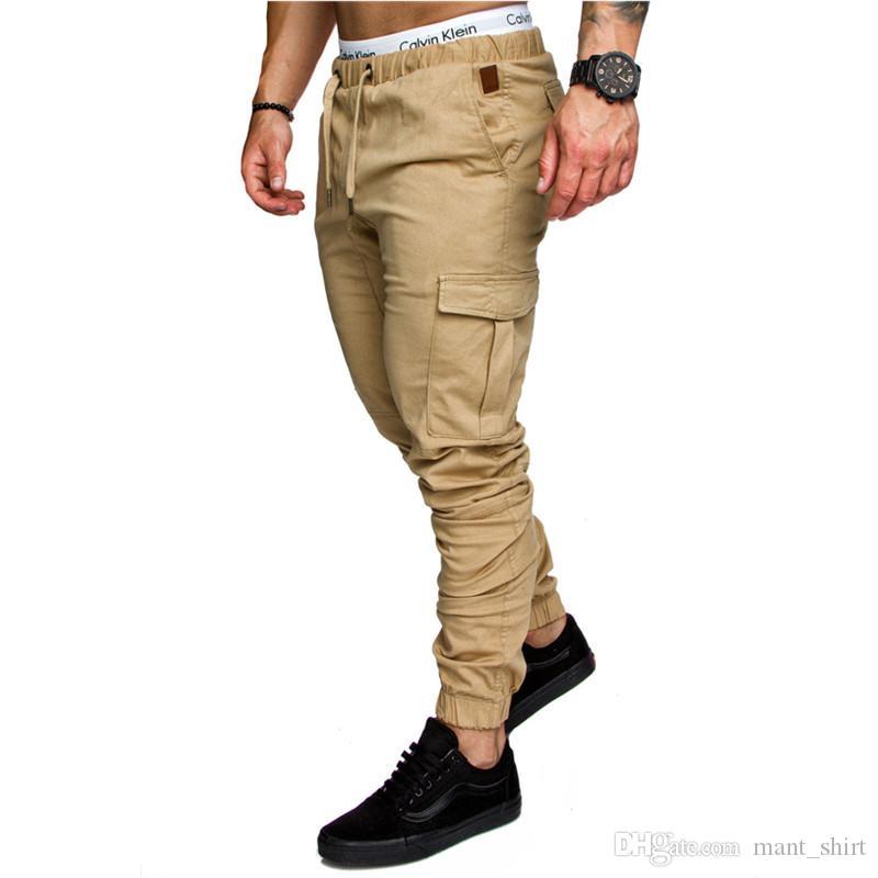 Compre Moda Para Hombre Del Basculador De La Cruz Pantalones Chinos Flaco Joggers Camuflaje De Los Hombres De La Nueva Manera Harem Largo Solid Color De Los Pantalones De Los Hombres Pantalones