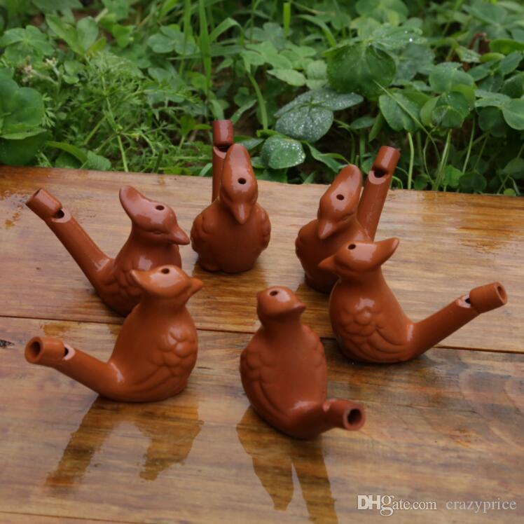 Su Kuş Düdük Vintage Su Kuş Seramik Sanatları El Sanatları Islık Kil Ocarina Warbler Şarkı Seramik cıvıltıları Çocuk Yıkanma Oyuncak LXL384-A