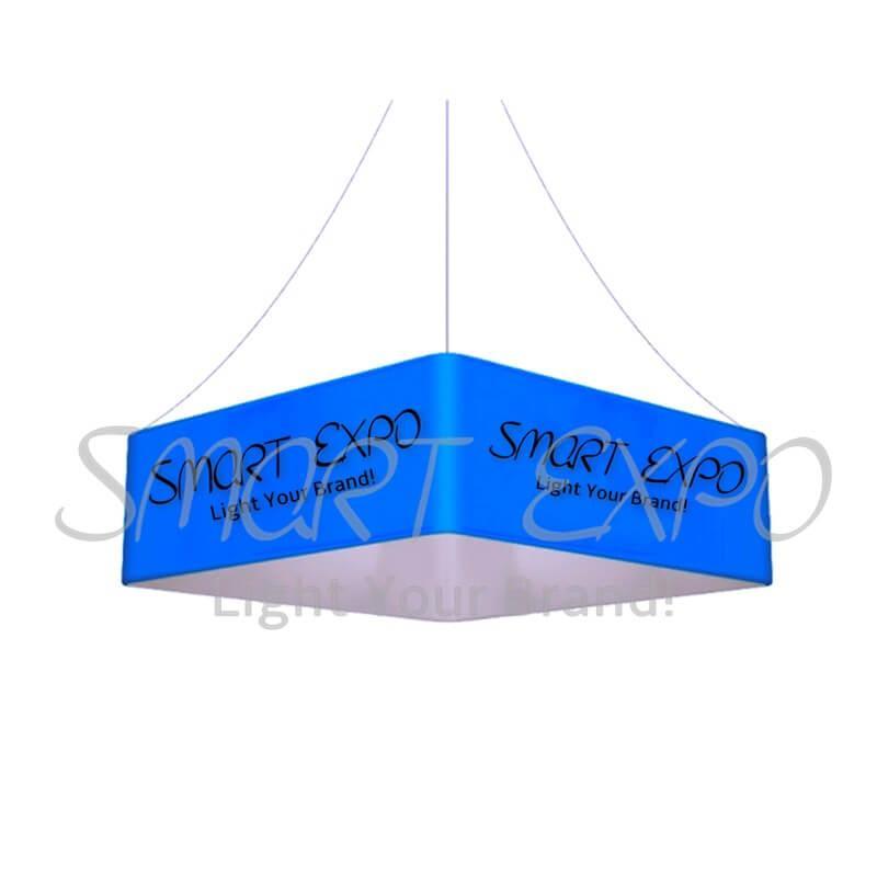16 pés (L) * 4 pés (H) de teto Praça Sinal de suspensão com um forte quadro de alumínio tensão da tela impressão gráfica Bag portátil