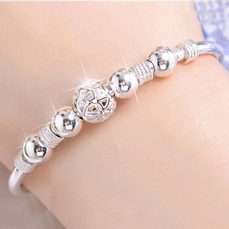 Perles Bracelet Transit Fortune Bracelet Blanc Argent Cuivre Bijoux Femme Mode cadeau gros