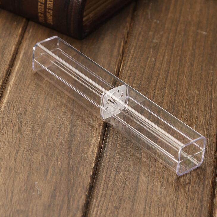 Горячие продажи Прозрачные футляры Пластичные Кристалл ручки Дисплей коробки свадьбы пользу подарков держатель офиса Школьные принадлежности LX1801