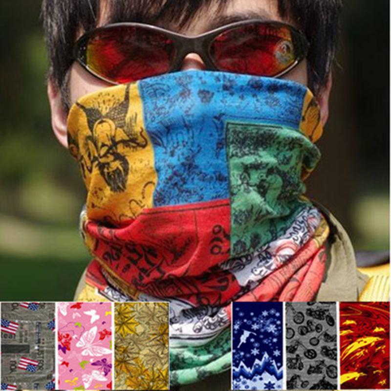 Máscaras Máscara unisex Montar Pañuelo de protección solar sin fisuras Magic variedad turbante Pañuelos multifunción deporte al aire libre de la venda de la bufanda