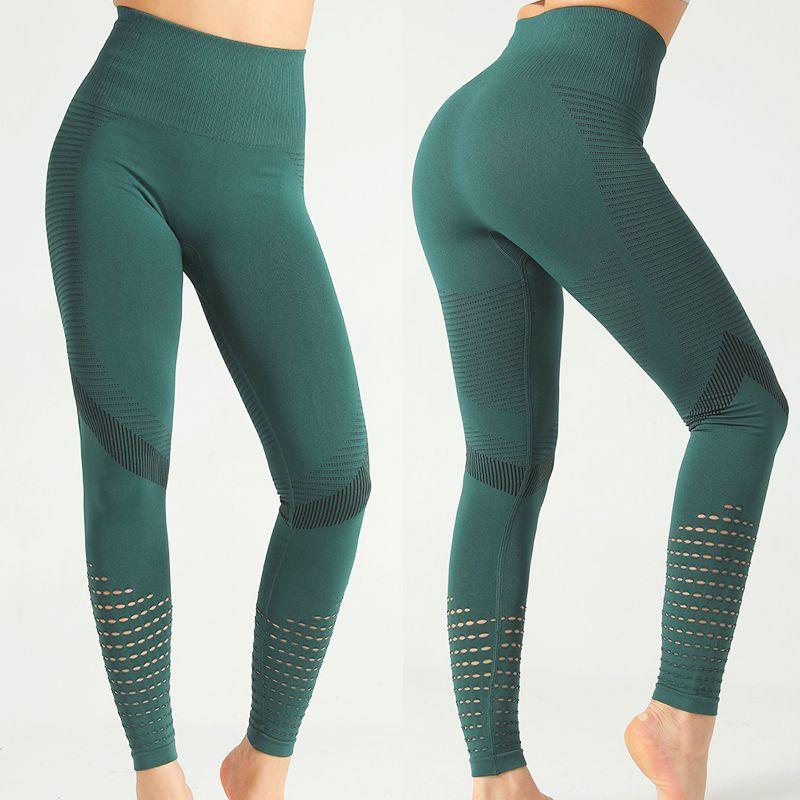 pantalones de yoga sin costura polainas de las mujeres del deporte de la aptitud del entrenamiento sweatpant legging