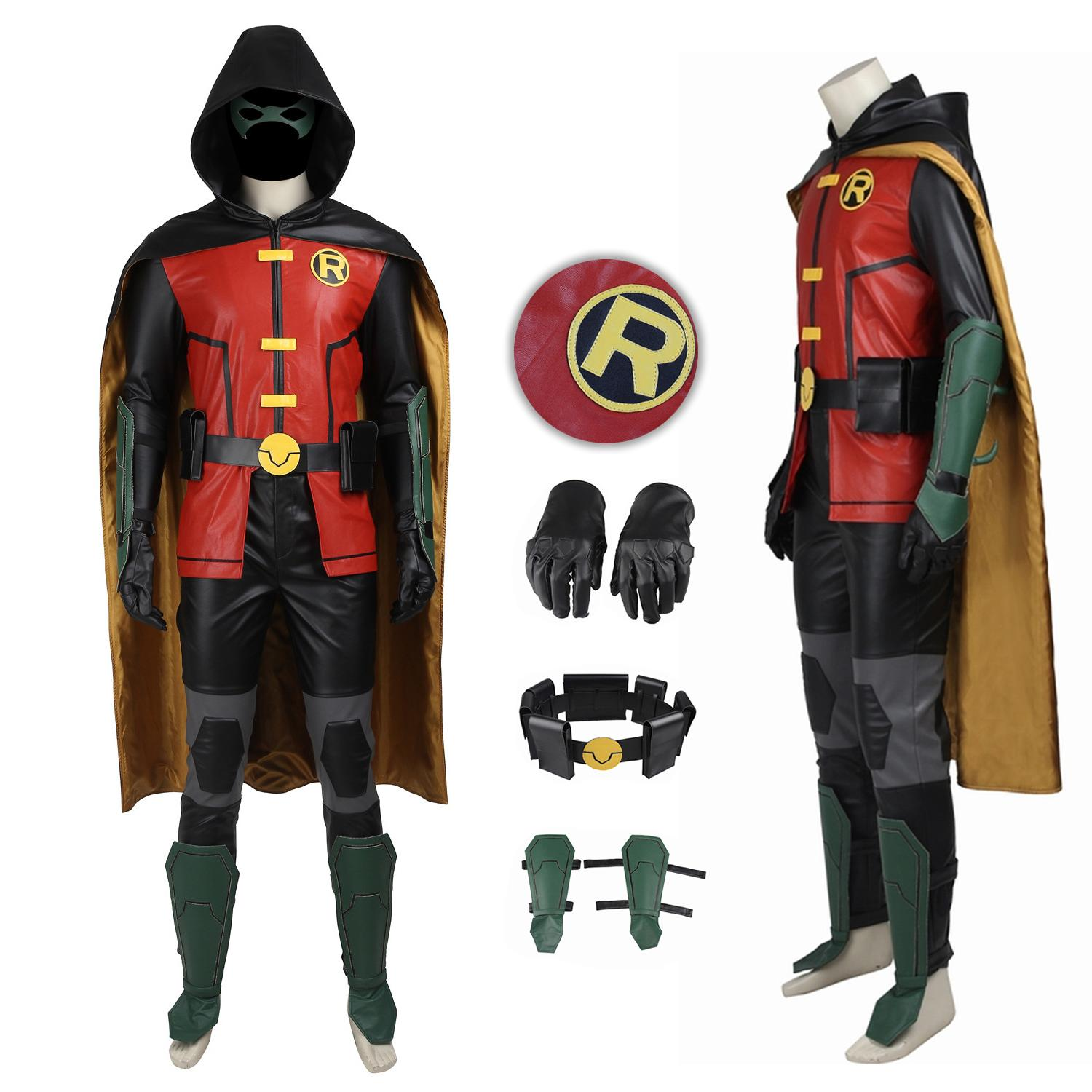 Robin Costume Justice League vs. Teen Titans Cosplay Damian Wayne Suit