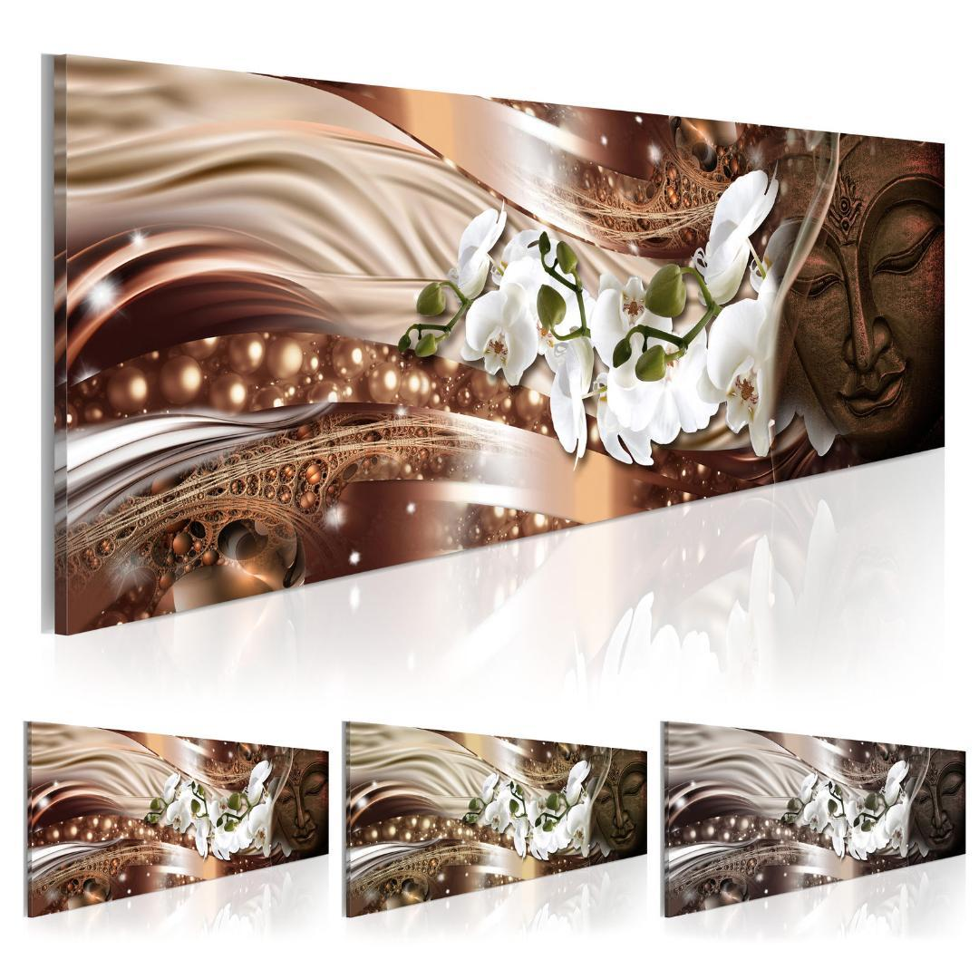 (어떤 프레임) 난초 꽃 부처님의 캔버스 인쇄 현대 추상 선 예술 그림 홈 장식, 색상 사이즈를 선택하지