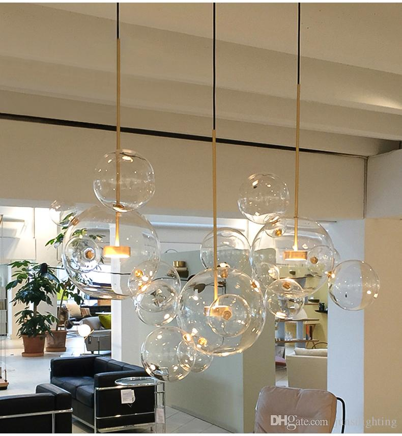 Creative personality postmodern simplicity pendant light Nordic living room restaurant bedroom bubble ball led pendant lamp