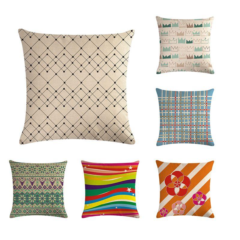 Простая символическая наволочка, декоративная наволочка, накидка на диван, наволочка 45 * 45см, предметы интерьера