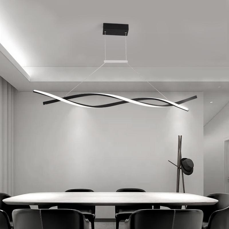 Lampadario a sospensione moderno per ufficio sala da pranzo cucina alluminio onda onda lucentezza Avize moderno lampadario illuminazione
