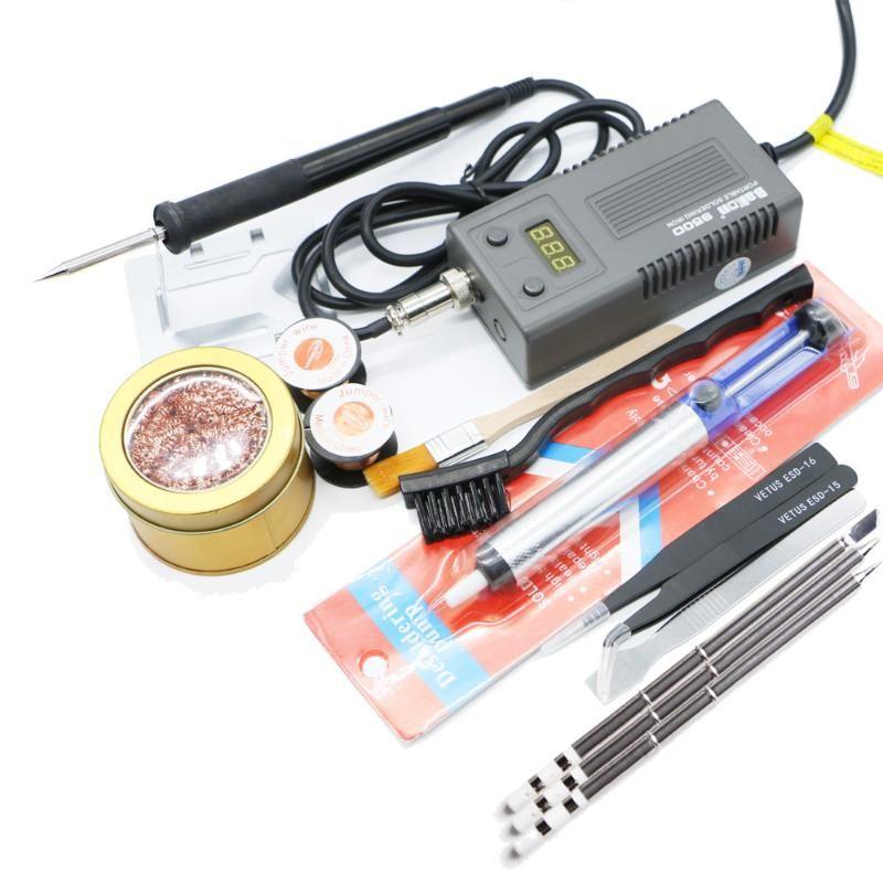 Bakon BK950D Kaynak Lehim Havya 220/110 50W İç Isıtma Tipi Kaynak Aracı üçlü dijital ekran ve T13 ısıtıcı
