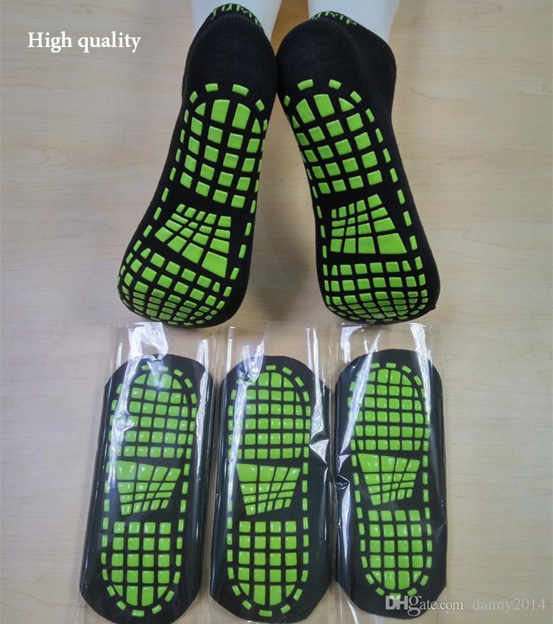 Los niños de alta calidad adolescente trampolín calcetines de silicona de silicona inferior planta salto antideslizante calcetines de moda transpirable calcetín niños niñas