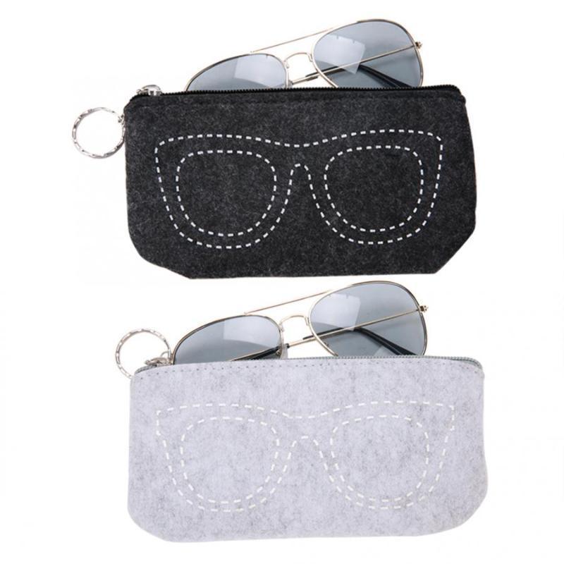 Óculos moda portátil Bag Zipper Sunglasses Bag Pouch Caixa de armazenamento com