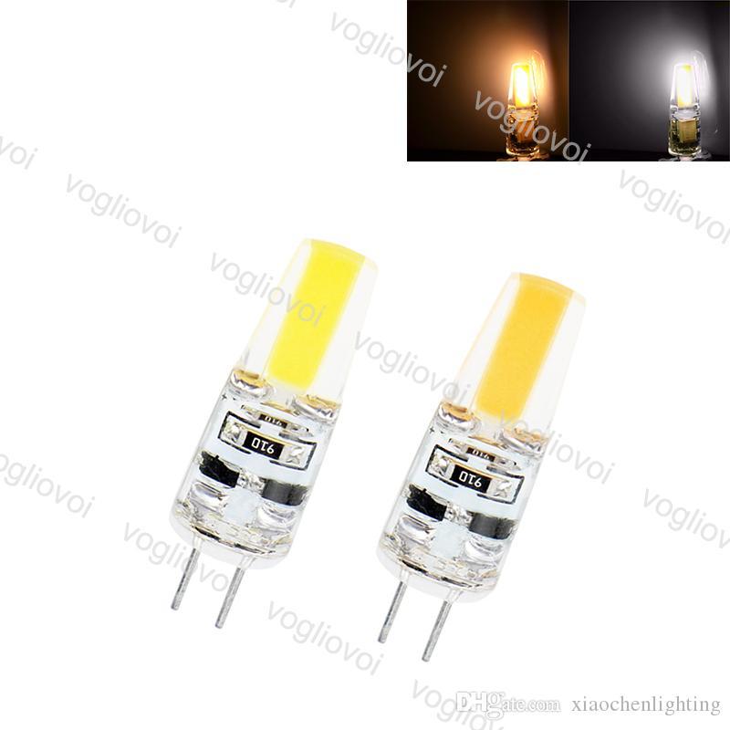 LED لمبات COB G4 6W 1LED DC12V الدافئة الأبيض الباردة الذرة البيضاء لمبة سيليكون مصابيح كريستال الثريا الرئيسية ضوء EUB