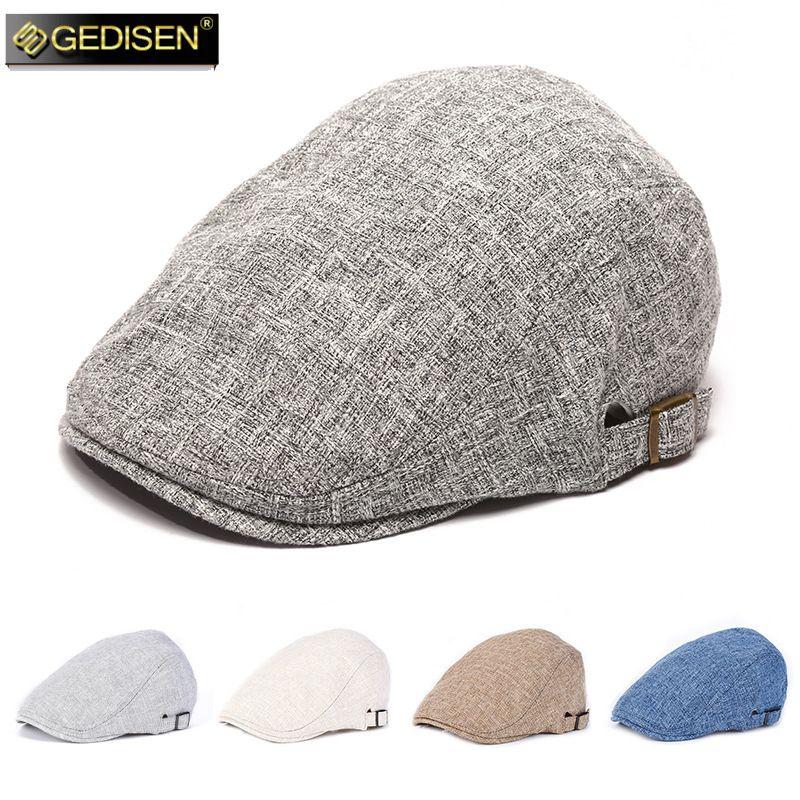 الجملة الكتان تنفس قبعة ظلة الرجال الصيف في الهواء الطلق الترفيه قبعة القطن الكتان القبعات قبعات