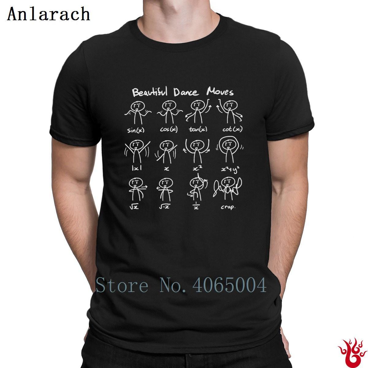 Bela dança Math Move T-shirt normal Formal autêntica Hip Hop T-shirt For Men 2018 personalizado louco camiseta 100% algodão