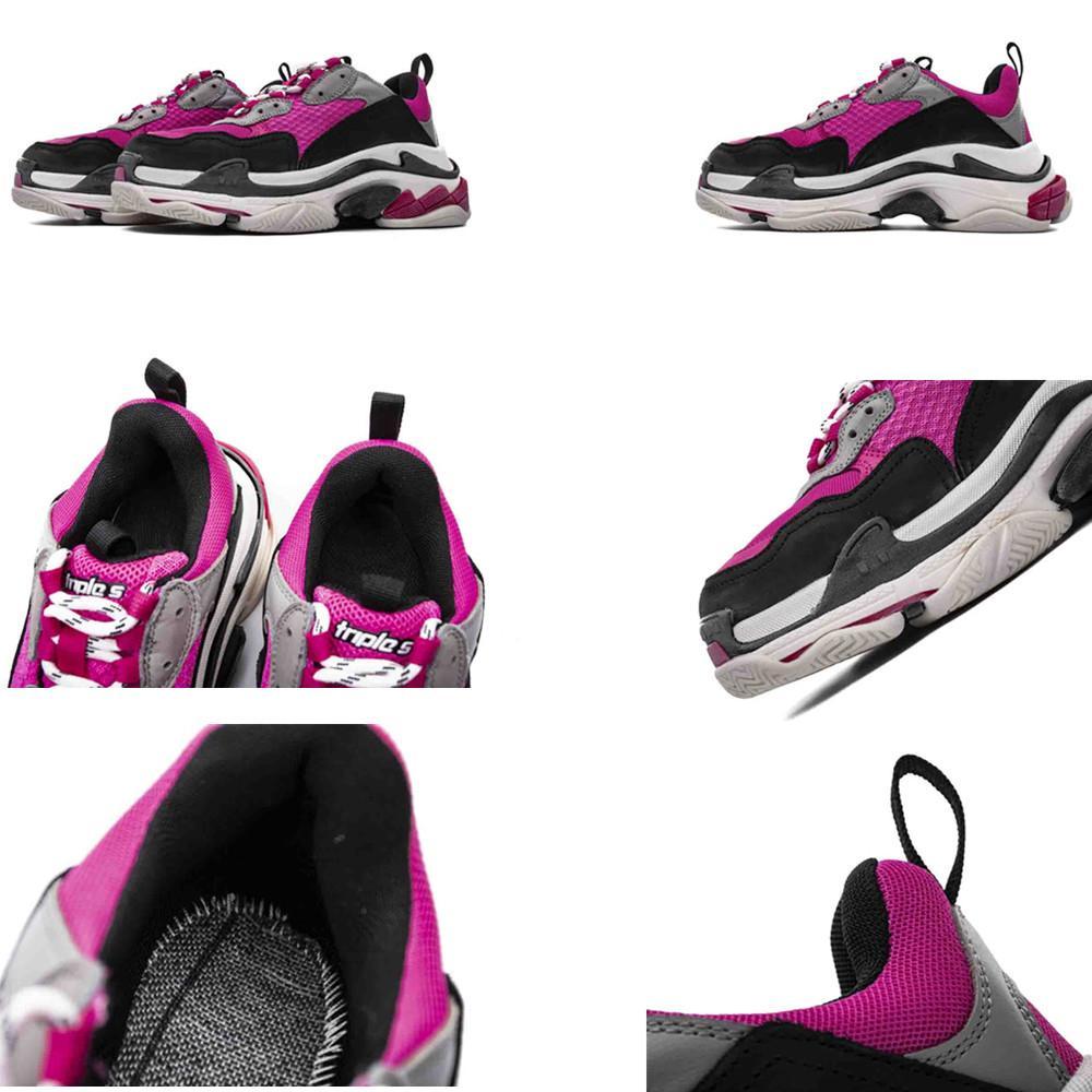 2019 PINK Damen Laufschuhe Triple S Brand Designer Trainer 35-39