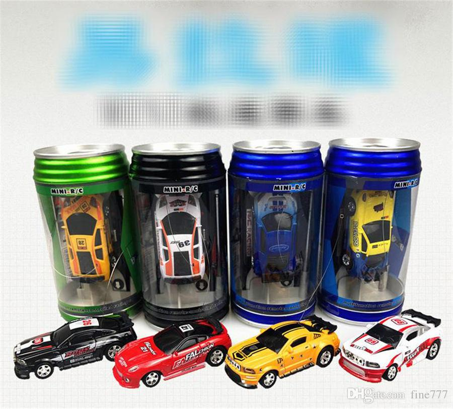New 8 Color Mini-Racer Remote Control Car Coke Can Mini RC Radio Remote Control Micro Racing Car
