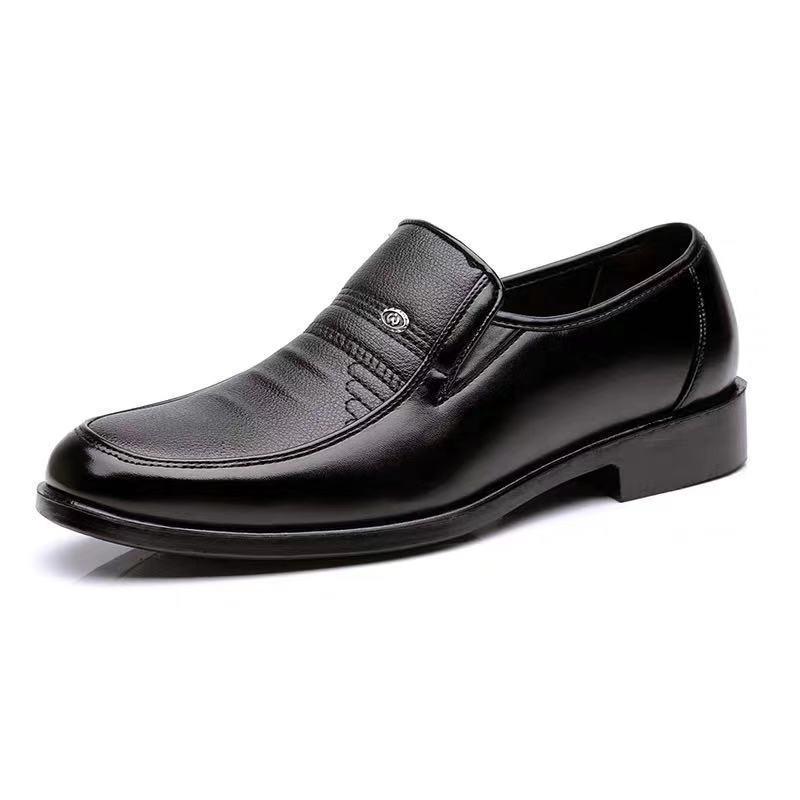 Vestito convenzionale anziani scarpe di cuoio uomini Autunno padre shoesBusiness gomma Scarpe Mocassini in pelle Lavoro d'ufficio per gli uomini PU