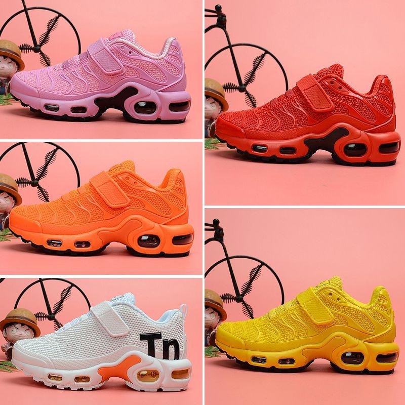 Nike Air TN Plus Love Kids Дети Плюс Родитель Ребенок Повседневная Обувь Для Мальчика Девочки Дизайнерские Кроссовки Белый Черный Multi Tn Открытый Тренер Обувь Размер 28-35