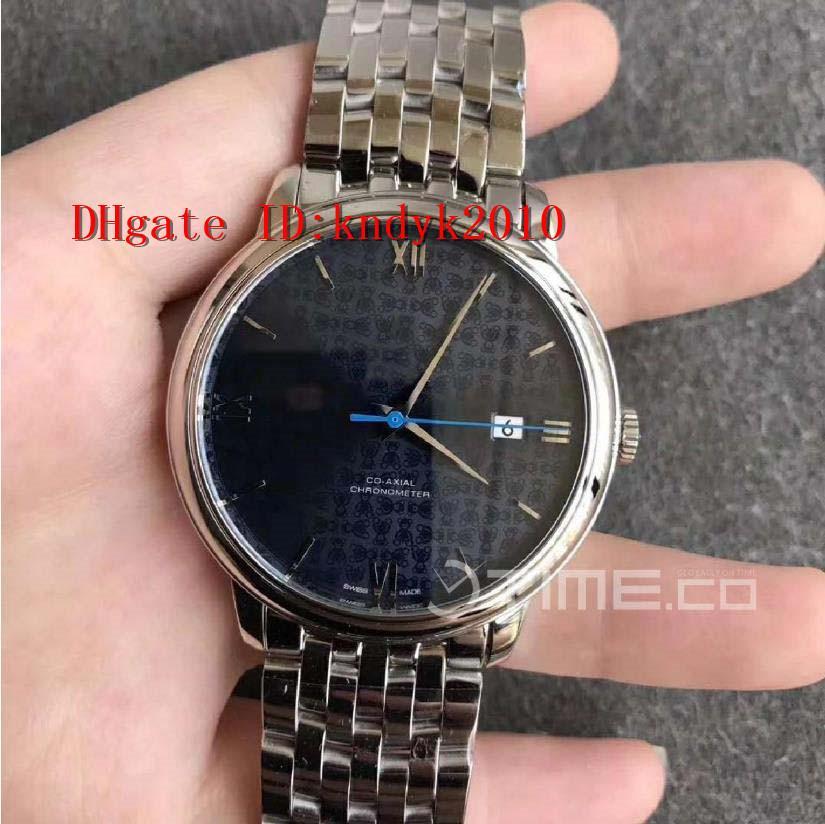 Yeni stil 424.10.40.20.03.003 İzle Paslanmaz Çelik Kasa RXW Sürümü Mavi Dokulu Dial Gümüş Marker Açık Paslanmaz Çelik Bilezik A.2892