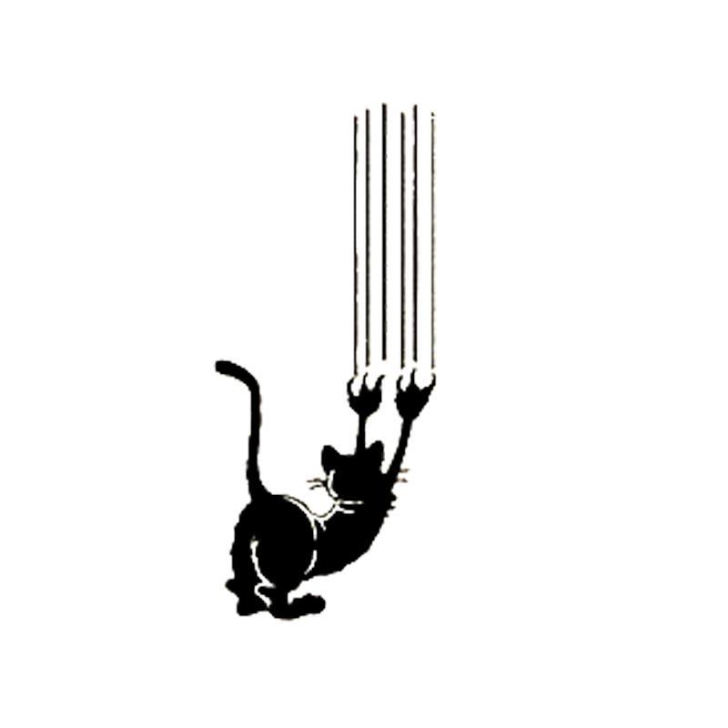16 * 6.8cm Kızgın Kedi Pençesi Vinil Çıkartması Güzel Mizah Motosiklet Arazi Aracı tampon araba Pencere Laptop Araba stylings