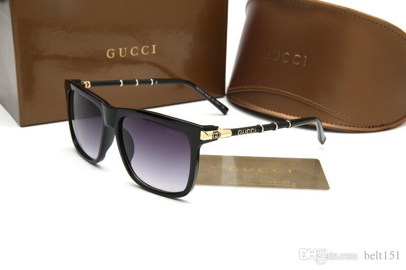 1 개 고품질 클래식 파일럿 선글라스 디자이너 브랜드 남성 여자 태양 안경 안경 골드 금속 GrGlass 렌즈 브라운 Cas 8211