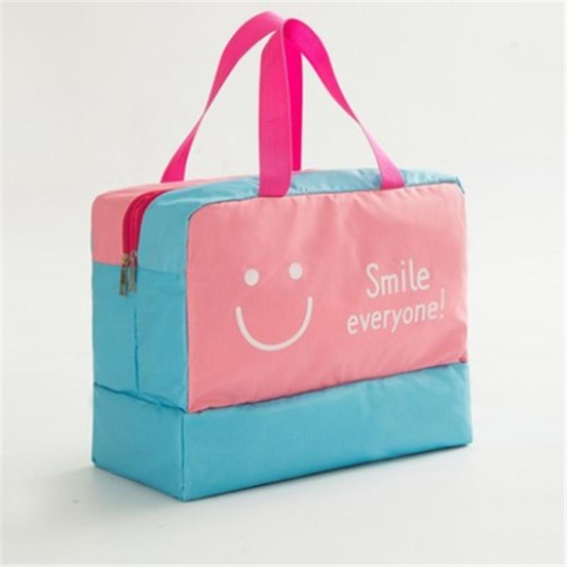 New Storage Bags Unisex sorriso da cara Beard Imprimir lavagem Bag seco e molhado Separação Zipper saco de armazenamento com Macio Handle 2020