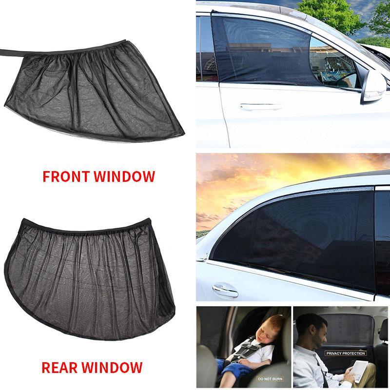 2 Adet Ön Arka Araba Pencere Kapak Güneşlik Perde UV Koruma Kalkanı Güneşlik Kalkanı Pencere Koruyucu Araba Evrensel Aksesuar