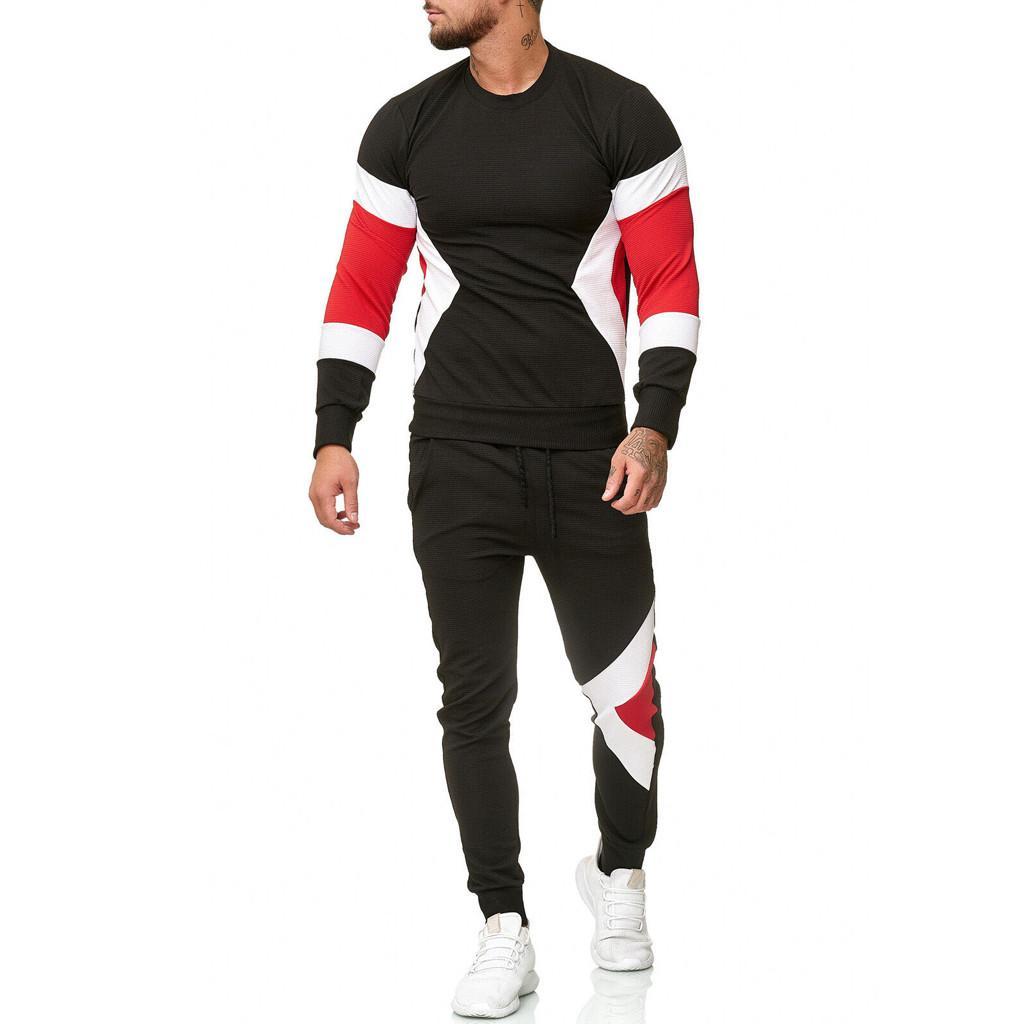 бег трусцой Ьотте зимние костюмы мужчин набор лоскутное мужской одежды набор trainingspak Mannen спортивный костюм пуловеры d91023