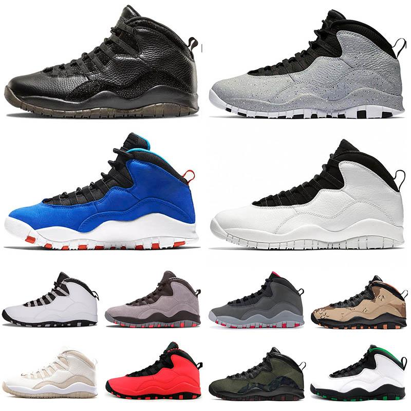 2020 Hot Sale 10 10s Jumpman Men Basketball Shoes Cement Seattle Tinker Im Back Black Cool Grey Chicago Sneakers Mens Trainers