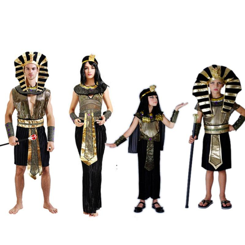 Egypt Pharaoh Costumes For Party Adults Clothing Egyptian Pharaoh King Men Purim Fancy Dress Christmas Halloween Navidad