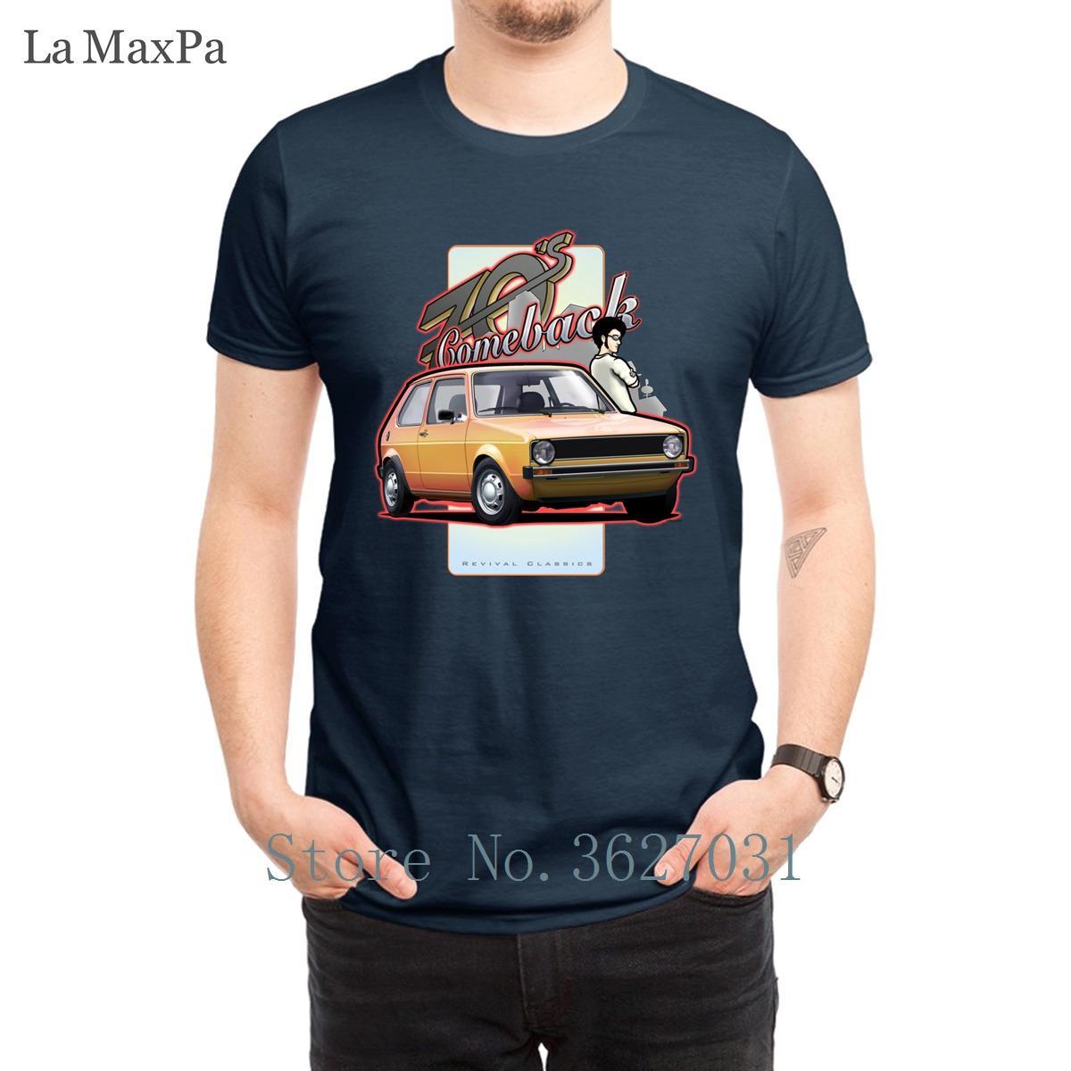 Creare Equipaggiata Costume nuovi taglie forti 3XL T shirt per Uomo di Hip Hop della novità T Shirt Comeback 70s auto T-shirt Mens