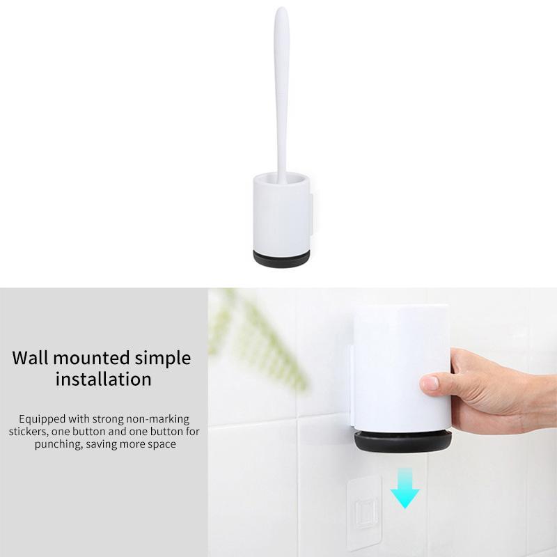 TPR силиконовая щетка для унитаза напольная настенная базовая щетка для чистки унитаза WC набор аксессуаров для ванной комнаты бытовой