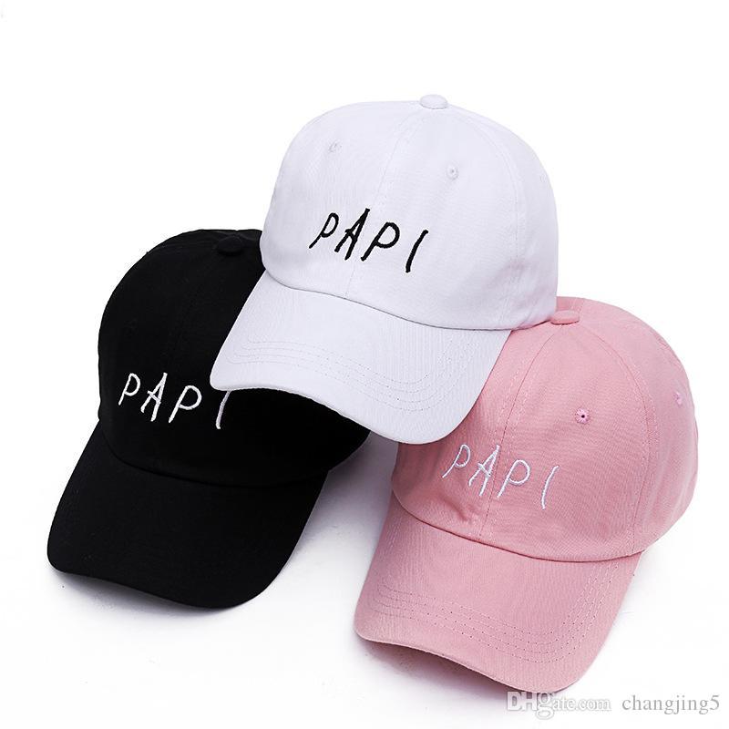 Voron Nuevo 2019 PAPI bordado gorra de béisbol papá Muchos de rosca ajustable Borgoña Strapback Lit