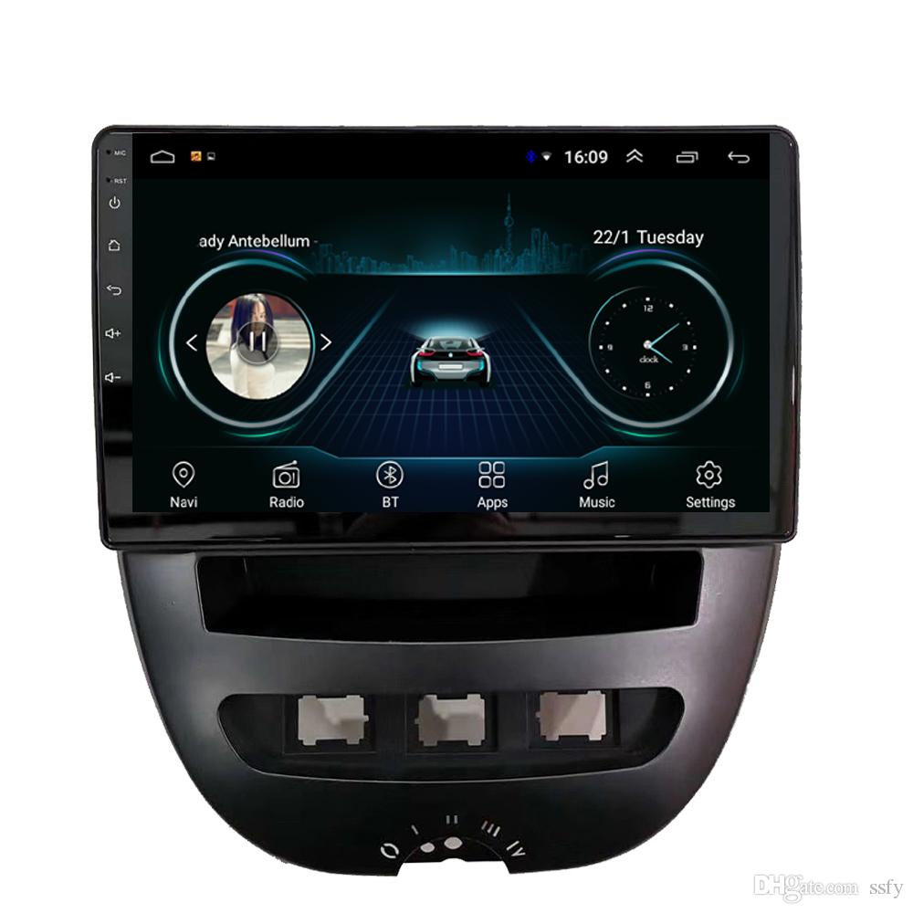 Android car mp3 mp4 player Precise navigation HD 1080 GPS navigation smooth music free map fast delivery for peugeot 107 9inch